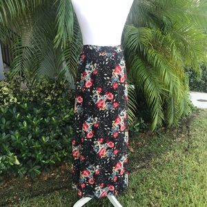 Zara Woman Floral Long Wrap Skirt